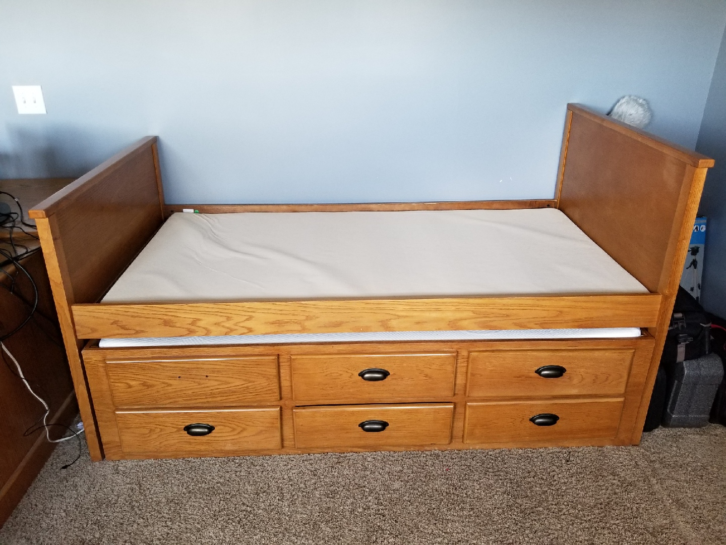 kids trundle bed with mattress s for sale news. Black Bedroom Furniture Sets. Home Design Ideas