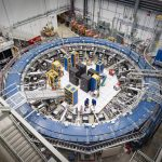 The Muon g-2 experiment recently started its second run. Scientists use this particle storage, a 50-foot-diameter magnet, to look for hidden particles and forces. Photo: Reidar Hahn