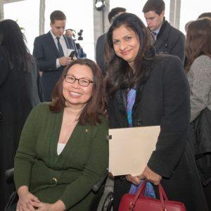 Senator Tammy Duckworth, left, and Consul General of India Neeta Bhushan were part of the milestone occasion. Photo: Reidar Hahn