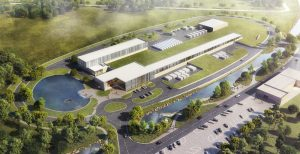 This architectural rendering shows the buildings that will house the new PIP-II accelerators. Credit: Fermilab