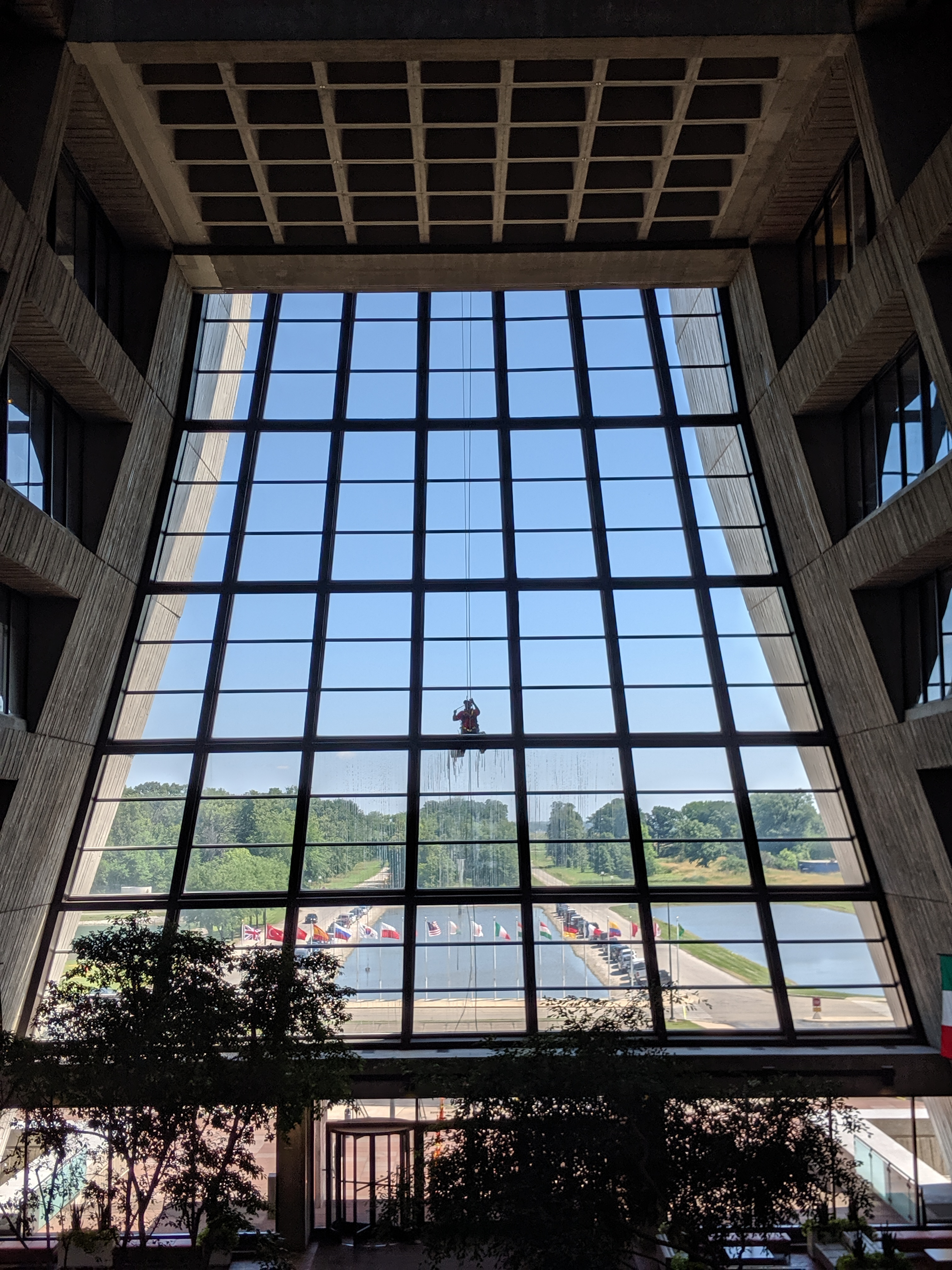 It's window washing at Wilson Hall. This photo was taken on July 10. people, building, Wilson Hall Photo: Valerie Higgins