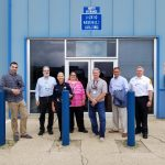 (2/2) The tour of DZero was given by George Ginther, second from left. people Photo: Lori Limberg