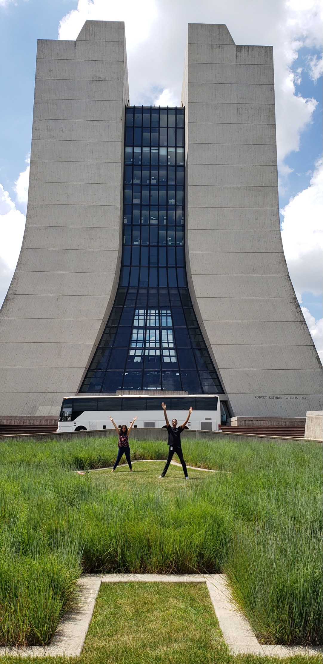 TARGET interns Malachi Clark and Deeya Wadhwani enjoy their final days at Fermilab. This photo was taken on July 18. people Photo: Xavier Velez