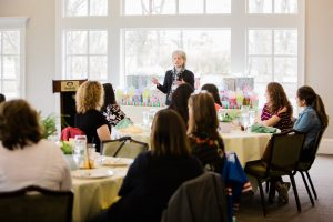 (1/3) Throwback Thursday: On April 24, Fermilab hosted a luncheon for the lab's administrative professionals at the Stonebridge Country Club. Chief Operating Officer Kate Gregory addressed the group. people, lab life Photo: Tom Nicol