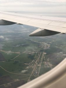 This view is familiar to many a frequent Fermilab flyer. landscape, aerial Photo: Felicia Campbell