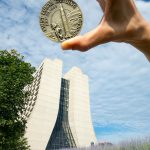 We celebrate the 50th anniversary of landing on the moon at Fermilab. building, Wilson Hall, sky Photo: Reidar Hahn