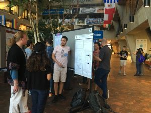 (2/6) The INSS 2019 poster session featured 43 posters showcasing a mix of the theoretical and experimental work being done by current graduate students and postdocs in neutrino physics all over the world. people Photo: Kirsty Duffy