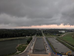 (1/2) On Aug. 20, low-lying storm clouds roll in over Fermilab. nature, storm, cloud, landscape Photo: Sadie Seddon-Stettler