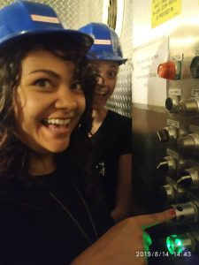 (6/6) Button-pusher says, Let's go underground! lab life, student, people Photo: Taylor Contreras
