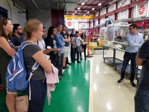 (4/6) Today's lesson: superconducting radio-frequency technology. Accelerate! student, people, lab life Photo: Erica Snider