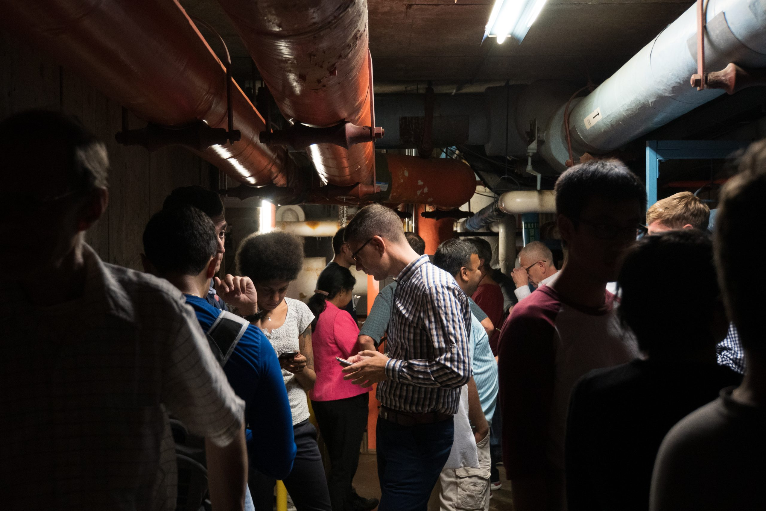 """(1/5) On Thursday, Sept. 12, Fermilab employees and users headed to an underground tunnel to take shelter from a possible tornado event. <a href=""""https://photos.app.goo.gl/NTnopMH6Aez36bdD7"""">View the Google album</a>. lab life, people Photo: Marguerite Tonjes"""