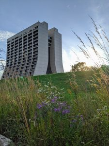 It's a restful scene, with Wilson Hall on an early Indian summer morning. landscape, building, Wilson Hall, sky, morning Photo: Mack Amorn-Vichet