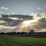 This shot was taken on Oct. 21. nature, landscape, building, Wilson Hall, sky, sun, cloud Photo: Valerie Higgins