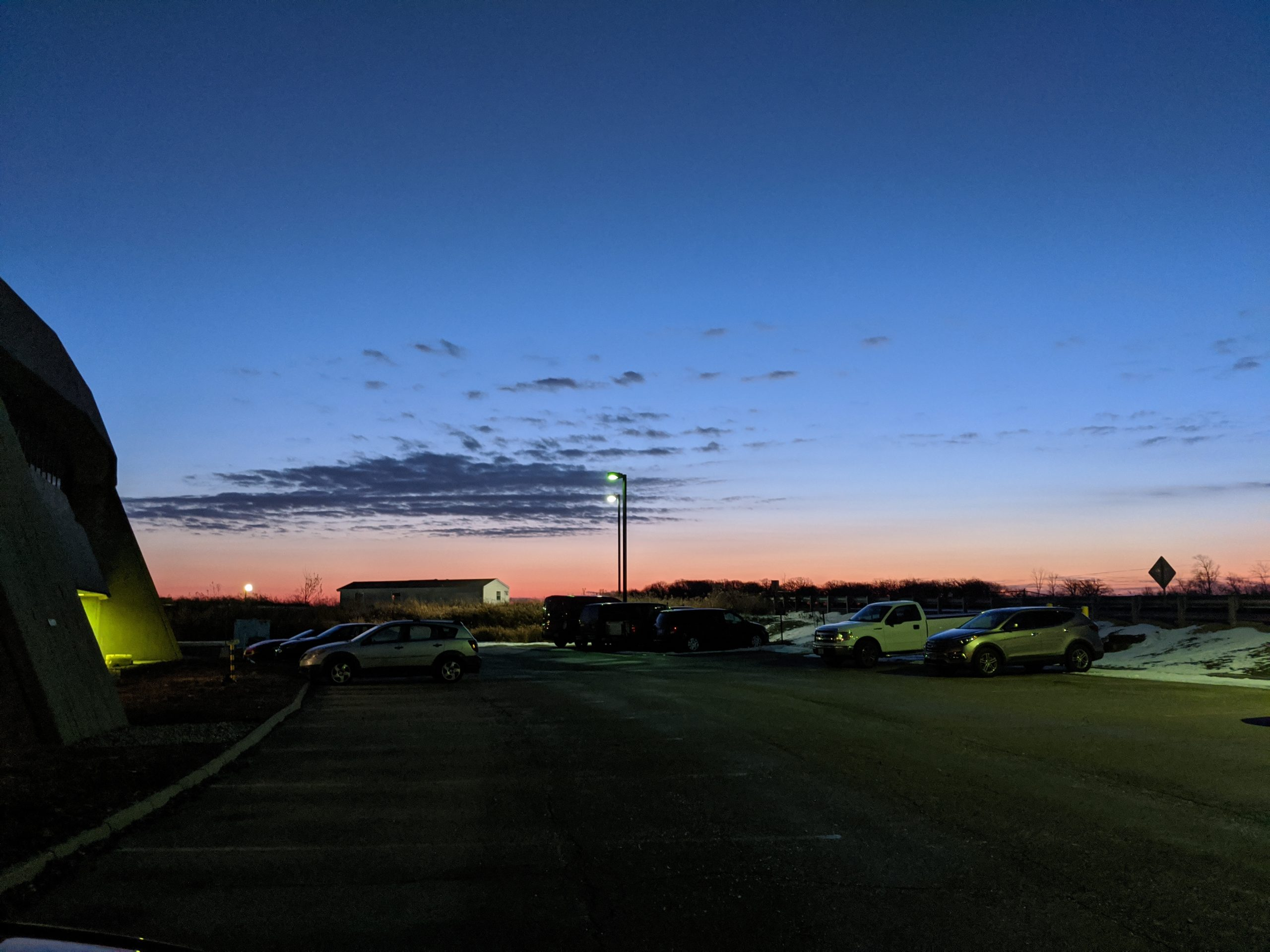 The day dawns, as seen from the Booster Tower East parking lot. nature, landscape, sunrise, sky Photo: Owen Marshall