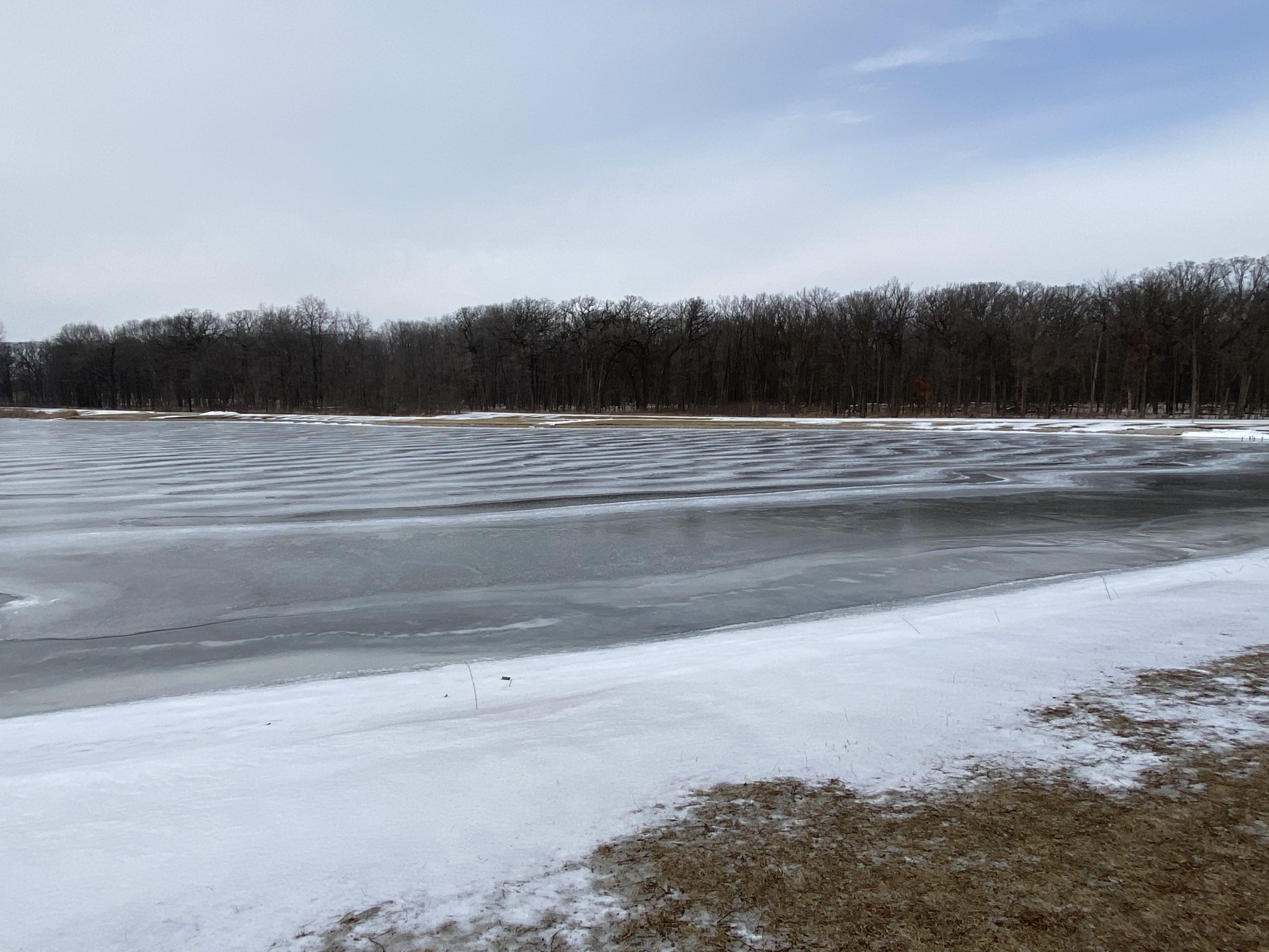 (3/4) Winter conditions produce a snowy shore. nature, landscape, winter, snow, lake, water Photo: Michael Tartaglia