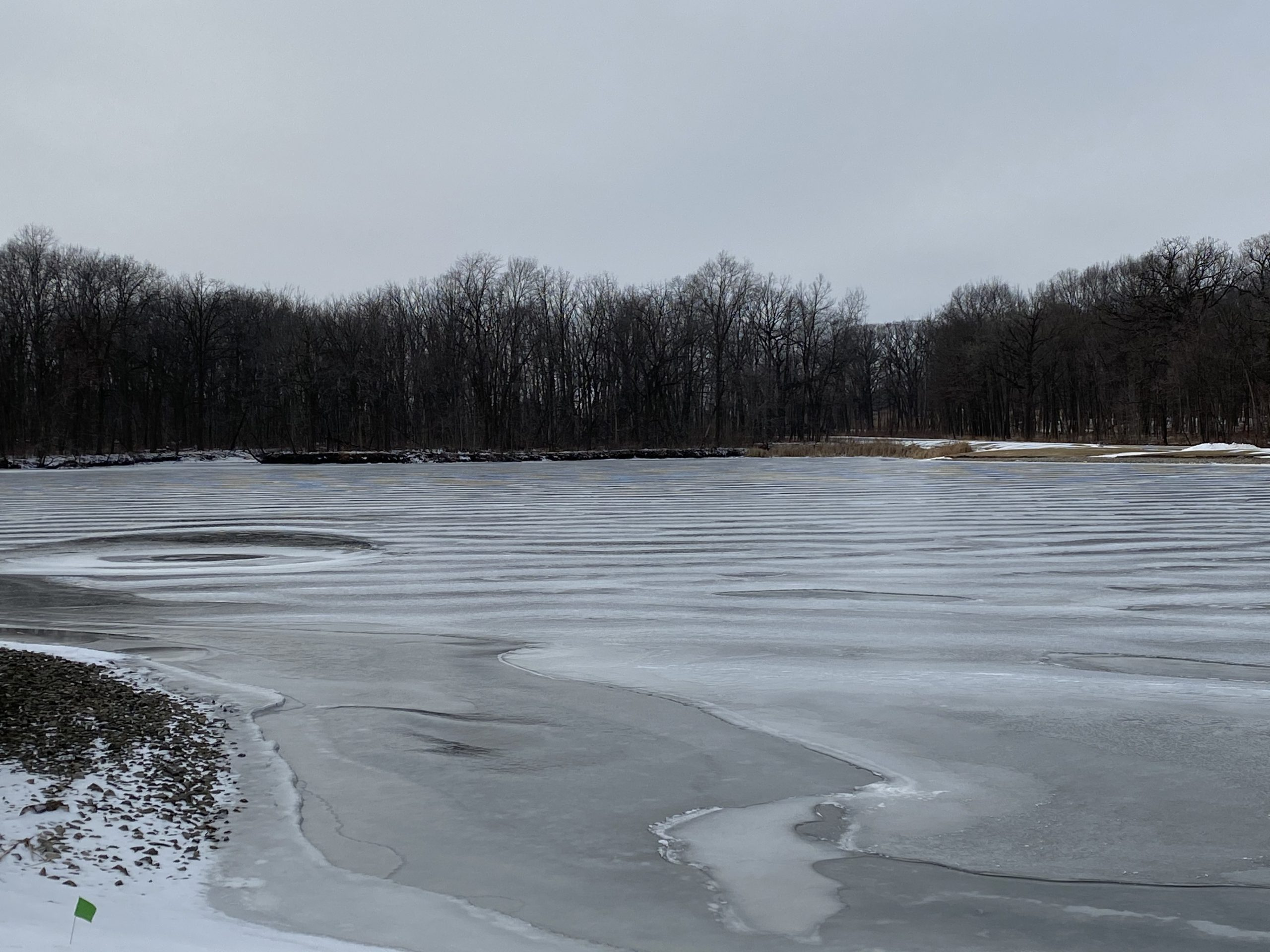 (4/4) It's winter ripples and effects. nature, landscape, winter, lake, water, snow, ice, Swan Lake Photo: Michael Tartaglia