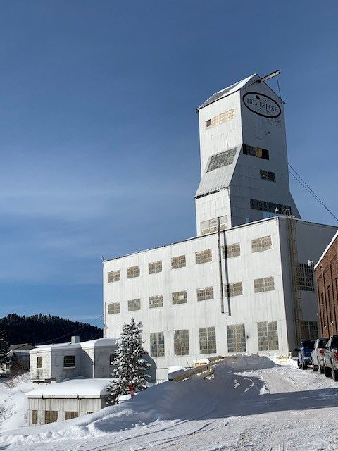 It's blues and whites at Sanford Lab's Ross Headframe after a big snowstorm on Feb. 25. The area saw 30 inches of snow that day. landscape, building, Sanford Underground Research Laboratory, Sanford Lab, South Dakota, winter, snow, sky Photo: Jeffrey Shearer