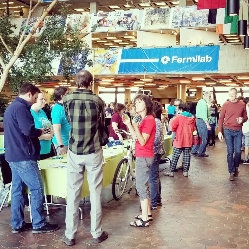 Happy Earth Day! Today marks the 50th anniversary of Earth Day.  Here we flash back to Fermilab's 2019 Earth Day Fair. people, lab life, environment, ecology Photo: Bridget Iverson