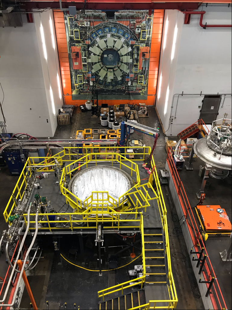 Mu2e components are under tests at HAB. Some workers returned to HAB for the first time on May 21. Mu2e Photo: Mark Bollinger