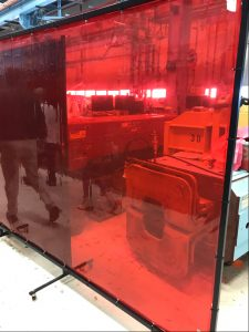 This new welding screen at the Applied Physics and Superconducting Technology Division will aid with social distancing. technology Photo: Mark Bollinger
