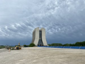 Clouds gather over Wilson Hall as a storm front comes through on the morning of June 3. This photo was taken from the IERC construction site. nature, landscape, Wilson Hall, building, storm, cloud, sky Photo: Timothy Scholz