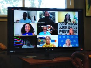 """Fermilab staff participate in a webinar on June 24, """"From Passion to Action: Levers and Tools for Making Physics Inclusive and Equitable."""" people, diversity, inclusion Photo: Georgia Schwender"""