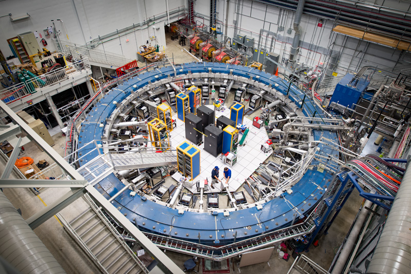 Today's publication by the Muon g-2 Theory Initiative marks the first time the global theoretical physics community has come together to publish a consensus value for the muon's magnetic moment. Now the world awaits the result from Fermilab's current Muon g-2 experiment, whose magnetic storage ring is pictured here.