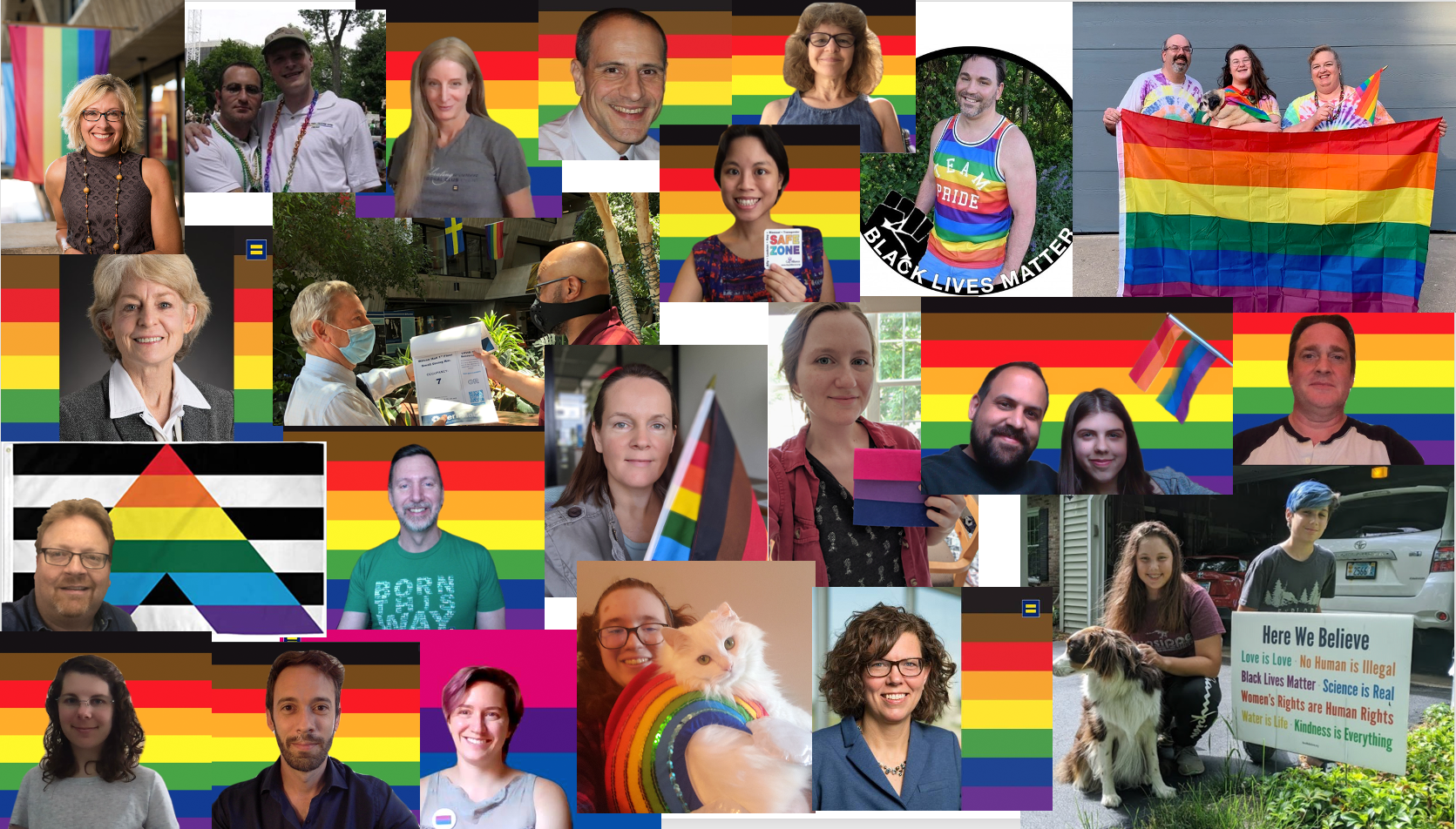 Members of the Fermilab community celebrate Pride Month. people Collage by Anne Heavey