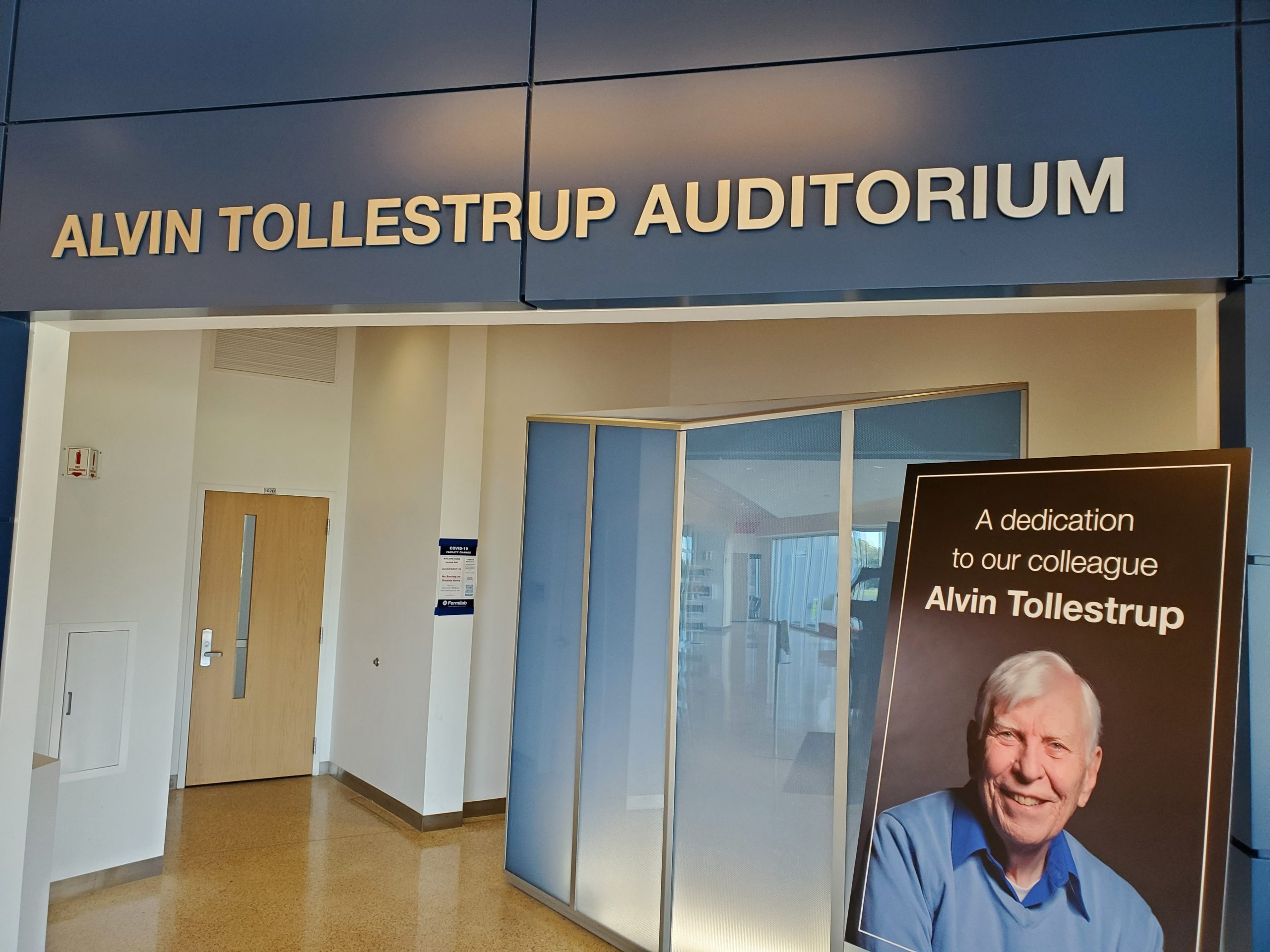"""You can <a href=""""https://events.fnal.gov/honoring-alvin-tollestrup/submit-your-recollections/"""">submit your remembrances of Alvin Tollestrup online</a>. people, building, IARC Photo: Julius Borchert"""