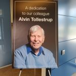 Read the Fermilab news tribute to Alvin Tollestrup. people, building, IARC Photo: Julius Borchert