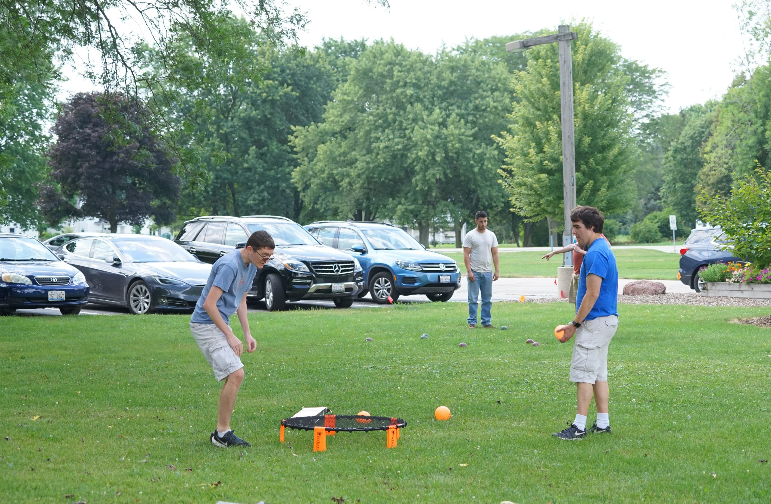 Let's play ball! summer, lab life, people Photo: Leticia Shaddix