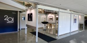 """In October 2018, Gallery 201 at Argonne National Laboratory hosted """"Art & Science: More Alike Than Different."""" The exhibiting artists were Fermilab 2014 artist-in-residence Lindsay Olson, 2017 artist-in-residence Jim Jenkins, Wind Flow Photography, and Fermilab Art Gallery Curator Georgia Schwender.art, arts Photo: Georgia Schwender"""