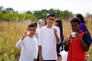 They're excited about what they learned on their field trip. nature, ecology, prairie, student, STEM, education, outreach Photo: Leticia Shaddix