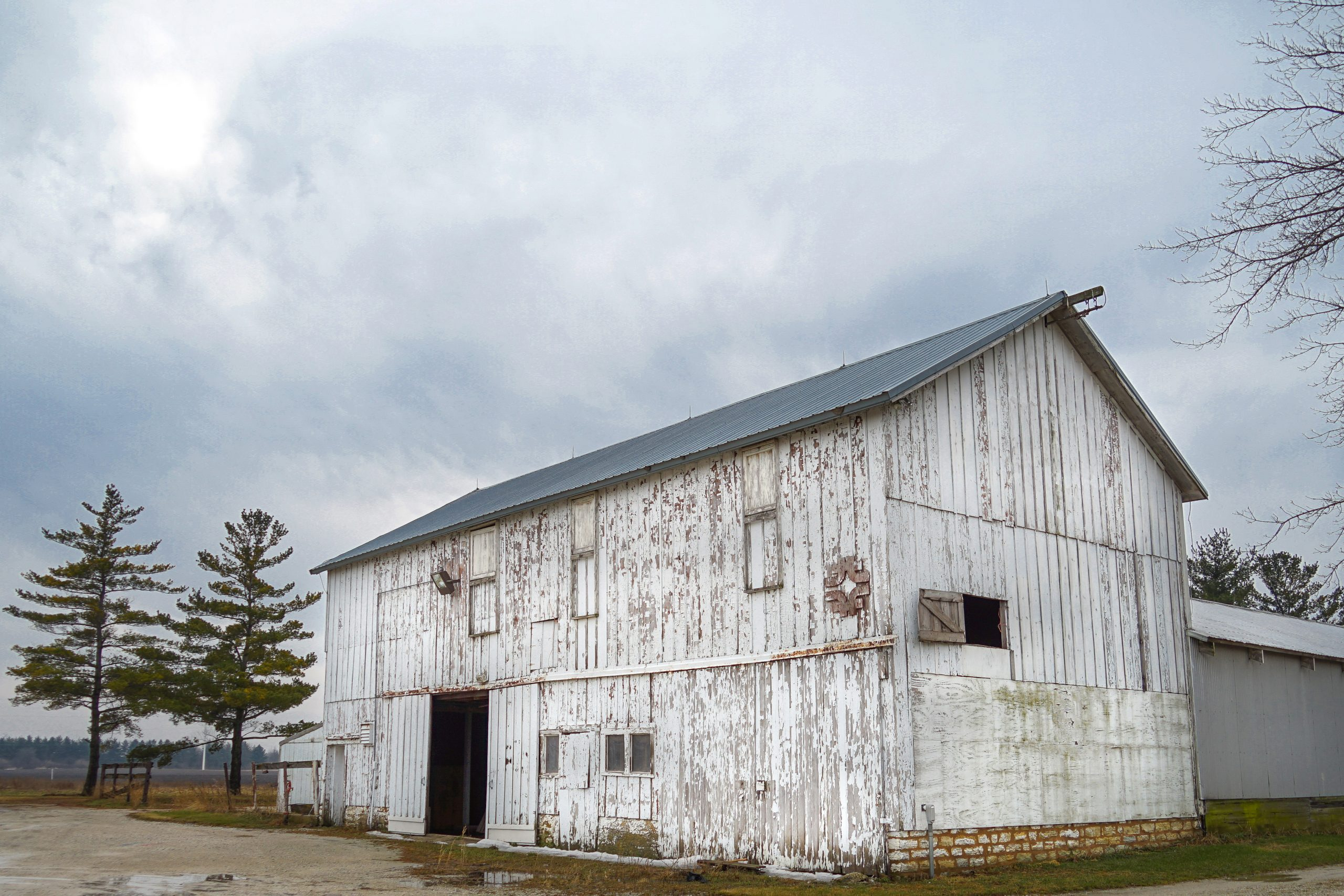 The old horse barn was rustic and stately. This photo was taken in January 2017. building, barn Photo: Leticia Shaddix