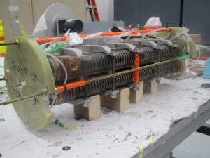 This half-meter-long prototype of a niobium-tin superconducting undulator magnet was designed and built by a team from three U.S. Department of Energy national laboratories. The next step will be to build a meter-long version and install it at the Advanced Photon Source at Argonne. Photo: Ibrahim Kesgin, Argonne National Laboratory
