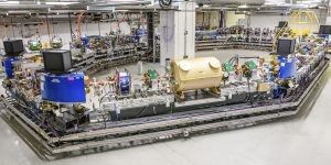 Fermilab's optical stochastic cooling experiment is now under way at the 40-meter-circumference Integrable Optics Test Accelerator, a versatile particle storage ring designed to pursue innovations in accelerator science. Photo: Giulio Stancari, Fermilab