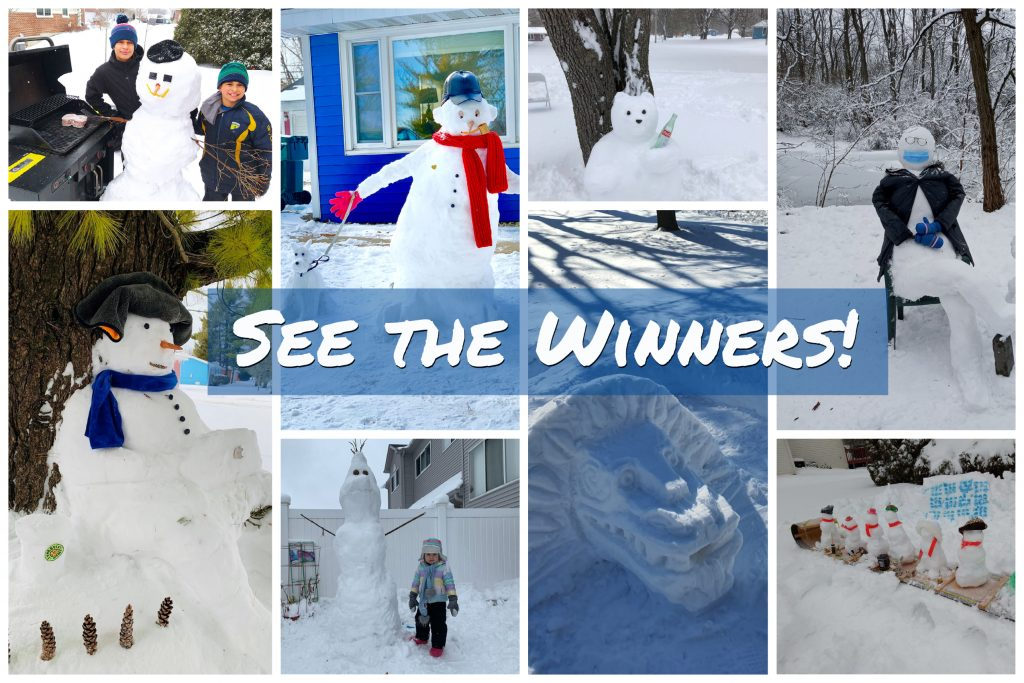 These are the winning snow creations.