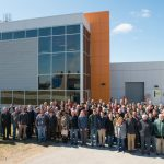 On March 22, 2017, members of the Muon g-2 collaboration gathered at Fermilab, in front of the MC-1 building, which houses their experiment. At 10 a.m. CDT today, April 7, 2021, the collaboration will announce the first results of the experiment. Muon g-2, people, MC-1, building Photo: Al Johnson, Fermilab