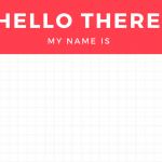 Illustration of Hello there! My name is ... name tag.